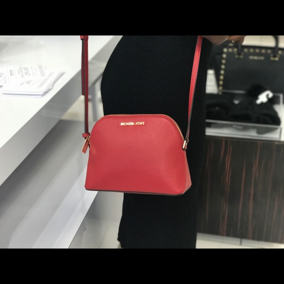 615ec921af6d98 Michael Kors Bags | Md Dome Leather Crossbody Scarlet | Poshmark